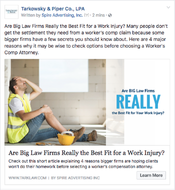 Are BIG Law Firms Really The Best Fit For Your Work Injury?
